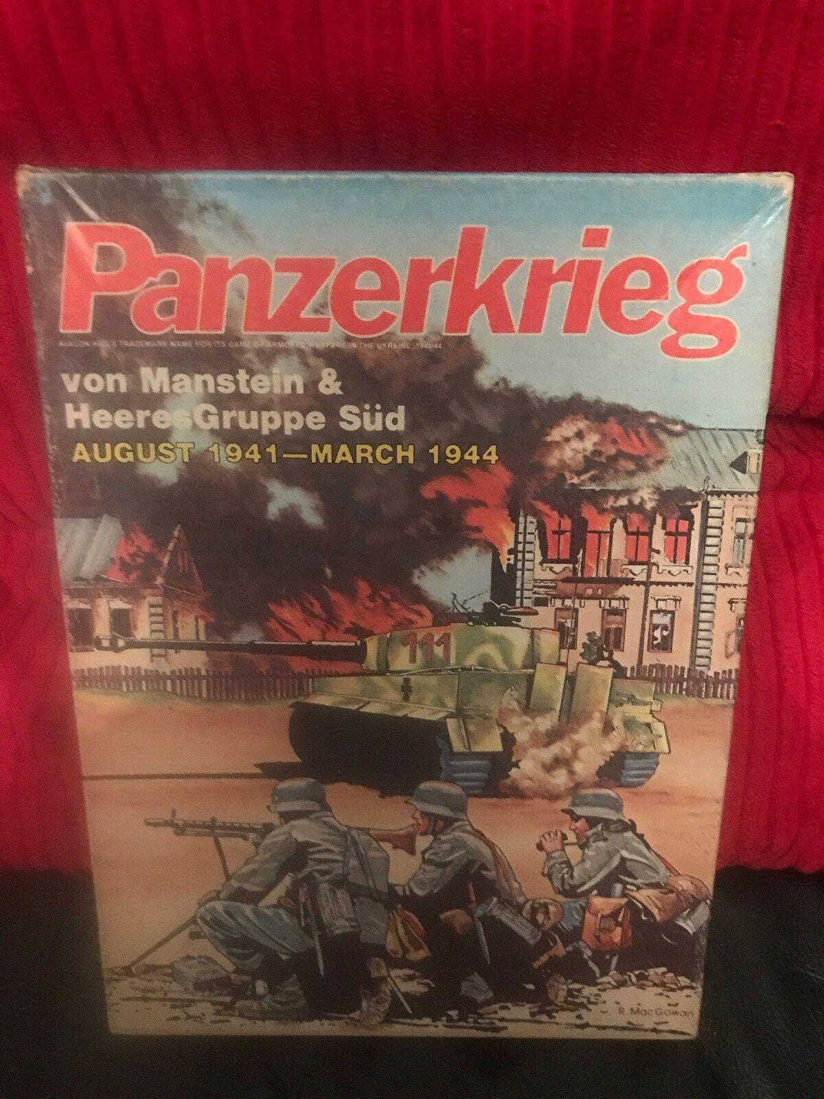 Panzerkrieg Avalon Hill Hill Hill jeu de plateau complet Look at Téléphone Pour Condition 6d52c1