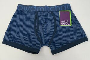 Mitch-Dowd-Mens-Boxer-Shorts-Trunks-Underwear-sizes-Small-Medium-Large-XL-Blue