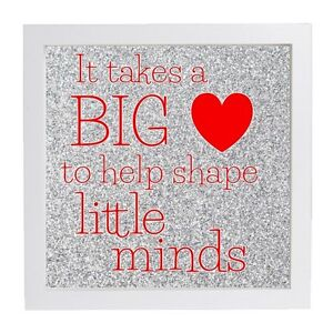 It Takes A Big Heart To Help Shape Little Minds Vinyl Decal Box