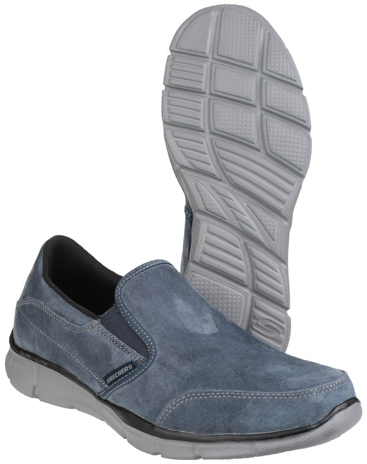 Skechers Equaliser Mind Trainers Game  Uomo Suede Memory Foam Trainers Mind Schuhes UK6-12 f4f5be