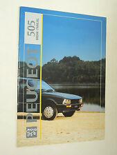 Prospectus PEUGEOT 505 Break Familial 1992  brochure prospekt car auto catalogue