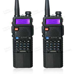 2-PCS-BaoFeng-UV-5R-Dual-UHF-VHF-Radio-Transceiver-3800mah-Battery-walkie