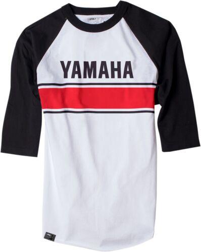 All Sizes Factory Effex Yamaha Vintage 3//4 Baseball Tee Black//White