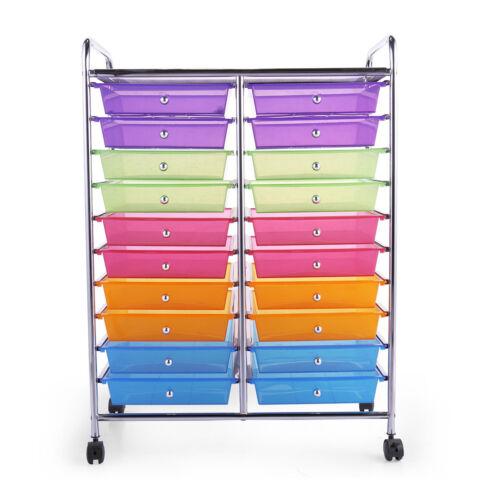 Rolling Storage Cart Tools Scrapbook Paper Office School Studio Organizer New