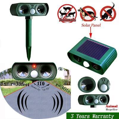 Solar Ultraschall Tiervertreiber Hundeschreck Katzenschreck Garten PIR Repeller