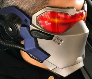 OW Game Overwatch Soldier 76 Cosplay Helmet LED Luminous Mask FREE SHIPPING