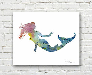 Alligator Abstract Watercolor Painting Art Print by Artist DJ Rogers