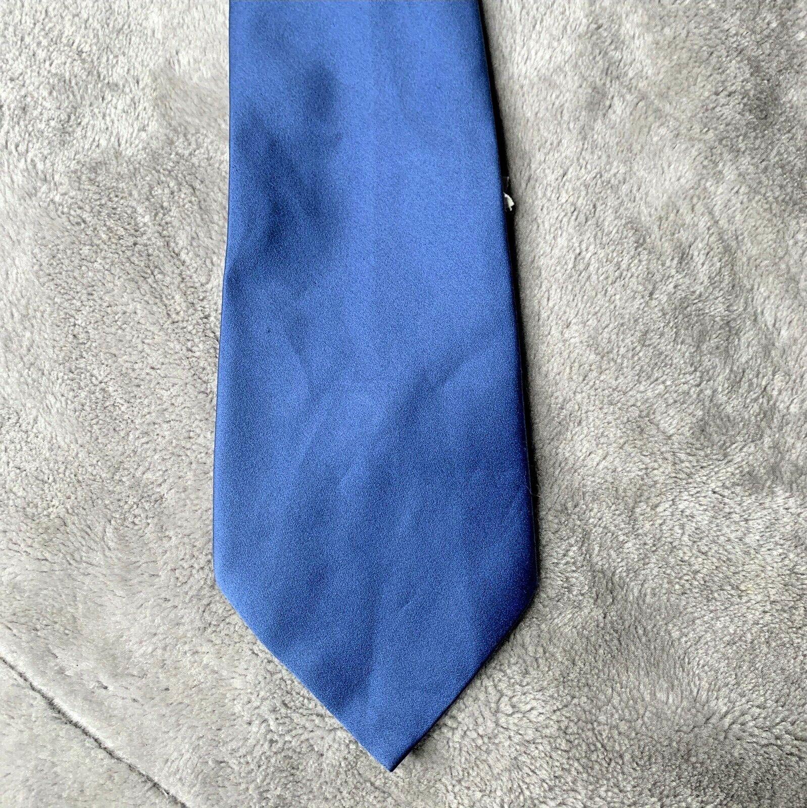 Keynote Vintage Mens Tie Blue Shiny New Tied Wide Office wear shirt