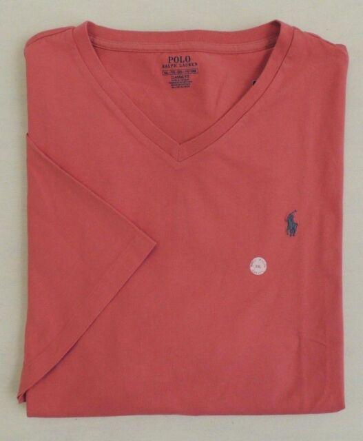 Men Polo Ralph Lauren Pony V neck Short Sleeves Classic Tee T Shirt Holiday XXL