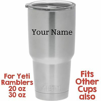 3 Personalized Yeti Rambler Tumbler Cup Custom Decal Sticker Ebay