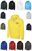 Custom Embroidered Uneek Zip up Hoodie Text UC504 Personalised with your Text