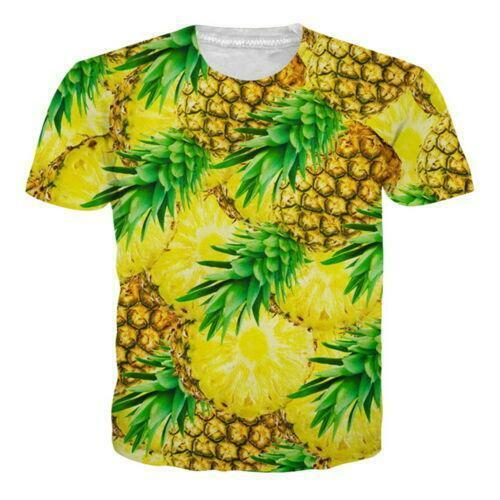 Hamburger Fruit Food 3d Print Women Mens T-shirt Short Sleeve Casual Graphic Tee