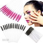 Pro 50Pcs Disposable Eyelash Brush Mascara Wands Applicator Spoolers Makeup Tool