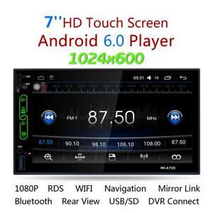 7inch Android 6.0 WiFi 2DIN Autoradio -Stereo Spieler GPS-Spiegel Link-AM / FM /