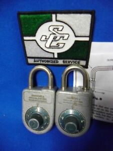 2-SARGENT-GREENLEAF-S-amp-G-8088-CHANGEABLE-COMBINATION-LOCKER-LOCK-PADLOCKS-w-TOOL