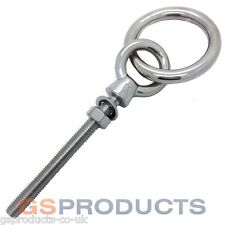 12mm Stainless Steel Ring Eye Bolt RINGBOLT with Nut and Washer FREE P+P