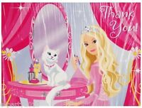 Barbie Perennial Princess Thank You Cards (8) Birthday Party Supplies Notes
