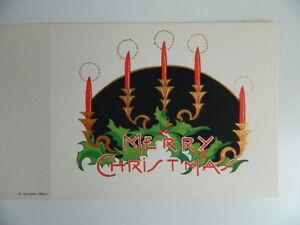 Gravur Antik Einmalig Au Pochoir Karte Klappen Frohe Weihnachten Merry Christmas