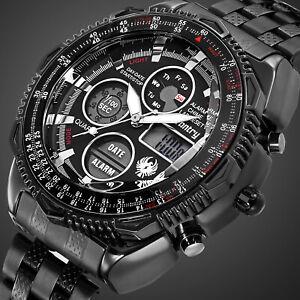 INFANTRY-Mens-Digital-Quartz-Wrist-Watch-Sport-Military-Tactical-Stainless-Steel