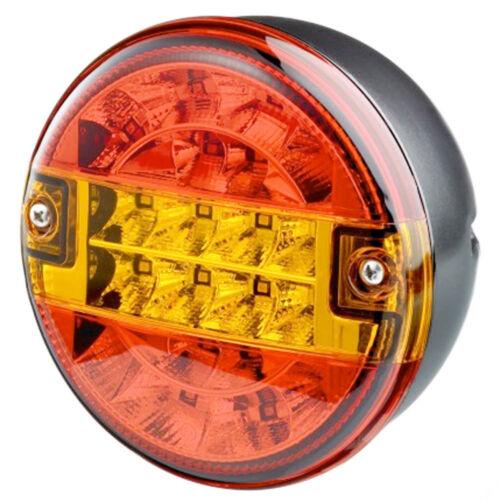 12V//24V VOLT UNIVERSAL LED REAR ROUND HAMBURGER TAIL LAMP LIGHT CARAVAN//TRAILER