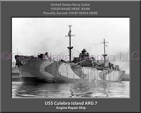 USS Culebra Island ARG 7 Personalized Canvas Canvas Canvas Ship Photo Print Navy Veteran Gift 7c1b9a