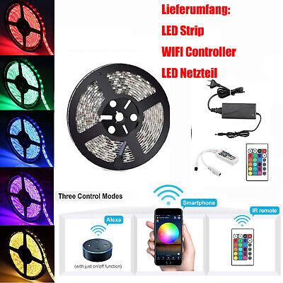 10m 20m RGB 5050 SMD LED Stripe Leiste Streifen Band WiFi APP Controller Trafo