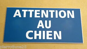 Plaque Gravée Attention Au Chien Format 48 X 100 Mm Gxf9f1zo-07225852-150834243