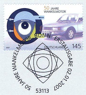 Brd 2007: Wankelmotor 50 Jahre Nr 2582 Mit Bonner Ersttagssonderstempel! 1a 1611