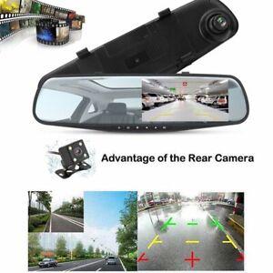 Dual Lens Hd 1080p 4 3 Quot Car Dvr Rearview Mirror Camera