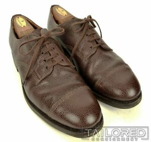 DRAKE-039-S-Solid-Brown-Grain-Leather-Mens-Dress-Shoes-w-Box-UK-10-US-11