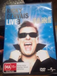 Ricky Gervais - Live  : Fame (DVD, 2007) * USED *
