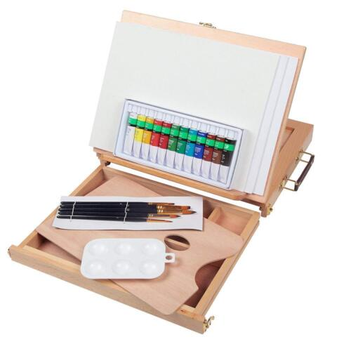 Falling in Art Acrylic Painting Set with Table Easel Drawer Canvas...