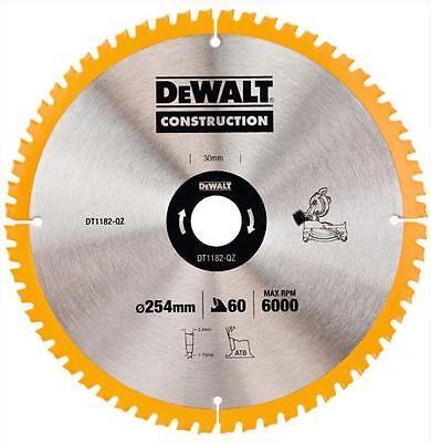 DEWALT DT1182 MITRE SAW BLADE 254MM X 30MM BORE 60 TOOTH