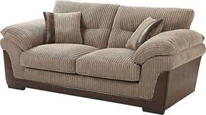 Details about 2.5 Seater Sofa 3 Seater Sofa and Armchair in Brown Corduroy  Brand New