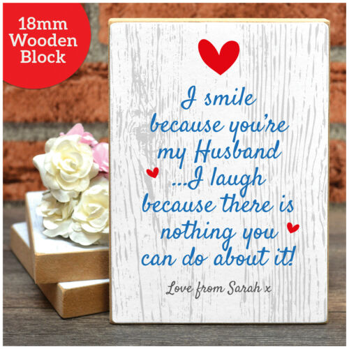 PERSONALISED Novelty Funny 1st First Wedding Anniversary Gifts for Husband Him
