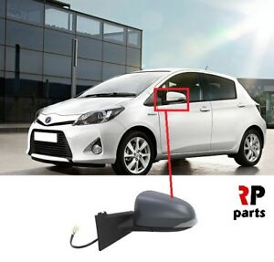 FOR-TOYOTA-YARIS-2011-2014-WING-MIRROR-ELECTRIC-HEATED-PRIMED-7-PIN-LEFT-LHD