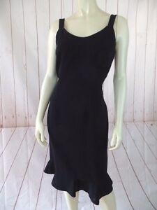 Albert-Nipon-Petite-Dress-8P-Black-Poly-Triacetate-Sleeveless-Sheath-Beaded-LBD