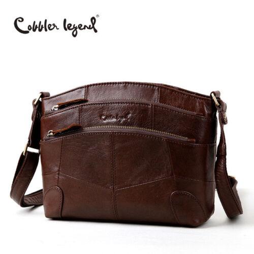 Cobbler Legend Vintage Genuine Leather Multi Pockets  Women Shoulder  Bag