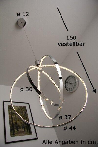 Design pendelleuchte LED colgante cromo pendelleuchte Design colgante lámpara colgante ajustable 092866