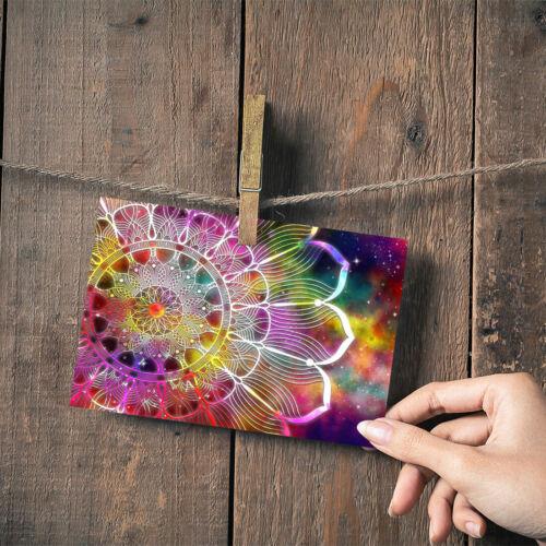 "Mandala Rainbow Flower Art Small Photograph 6/"" x 4/"" Art Print Photo Gift #2721"