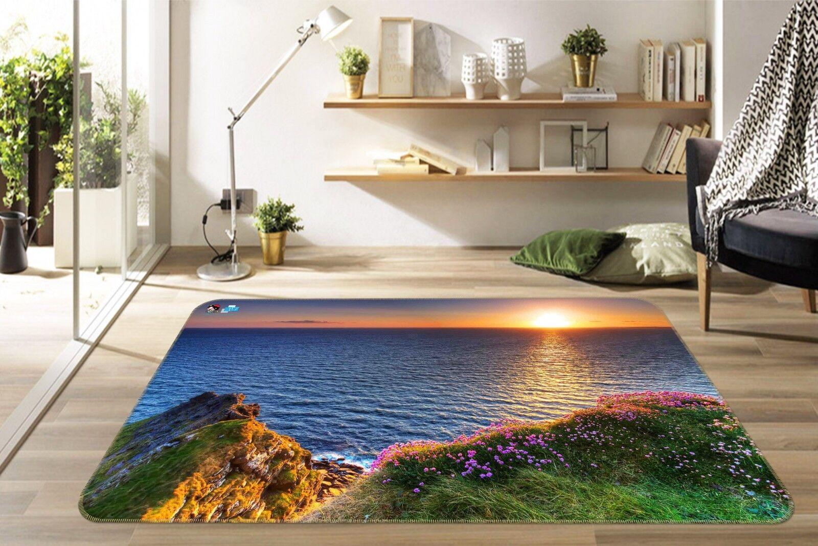 3d anochecer río 022 non-slip Carpet mat quality elegante Carpet de Summer