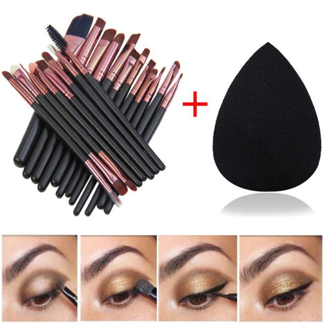 20 Pcs Makeup Brushes Set Powder Foundation Eyeshadow Eyeliner Lip Brush Tool