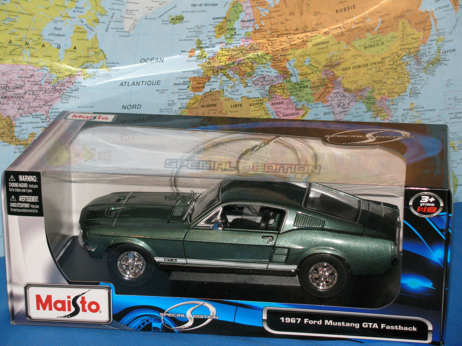 1 18 1967 Ford Mustang GTA vintage Maisto Special Edition Diecast  NEUF