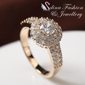 18K-Yellow-Gold-Plated-Simulated-Diamonds-Double-Halo-Round-Cut-Bridal-Ring