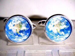 Herren-Manschettenknoepfe-Cufflinks-Legierung-Rund-Astronomie-Horoskop-Globus