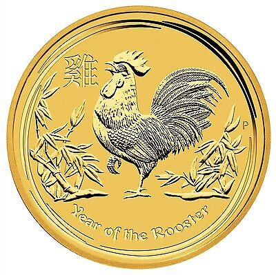 Goldmünze Australien 1/20 Unze Jahr des Hahns 2017 - 999,9er Gold