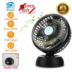 8 Usb Fan Portable Oscillating Silent Cooling Desk Fan 2 Speed