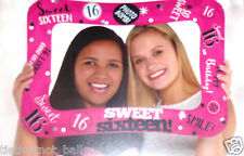 LARGE FOIL BALLOON SELFIE PHOTO FRAME 16TH BIRTHDAY SIXTEEN AGE 16 AIR FILLED