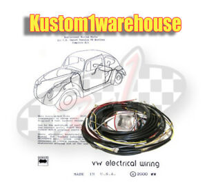 Awesome 1957 Vw Volkswagen Bug Sedan Complete Wiring Works Harness Wire Kit Wiring 101 Capemaxxcnl
