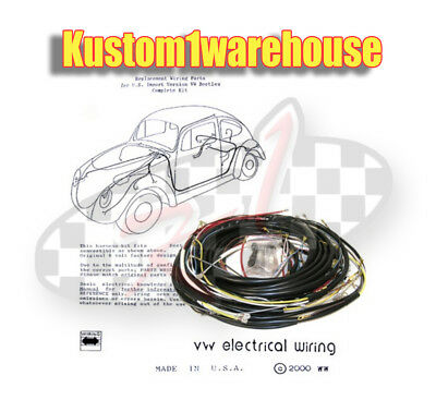 1955 vw volkswagen bug sedan complete wiring works harness wire kit made in  usa | ebay  ebay